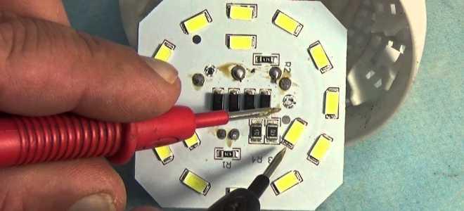 Как выполнить ремонт светодиодных светильников своими руками