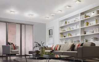 Точечные светодиодные светильники для натяжного потолка