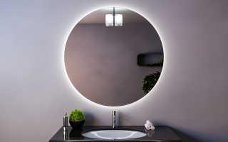 Подсветка зеркала светодиодной лентой