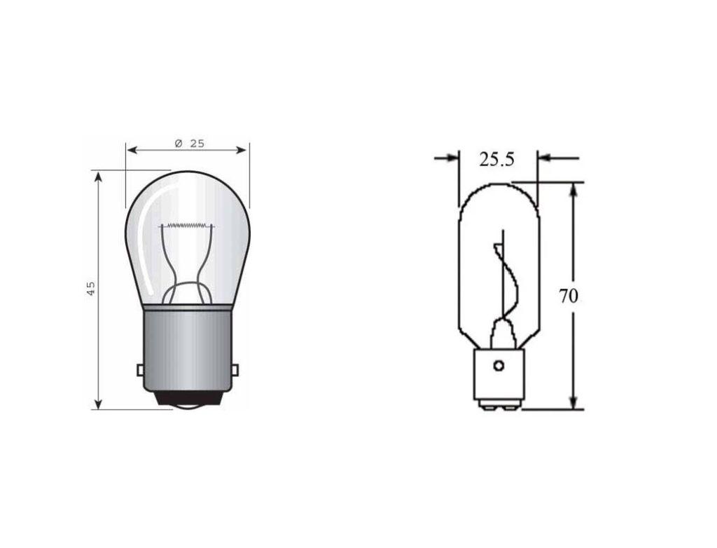 P21 5W и P21W светодиодные (LED) лампы