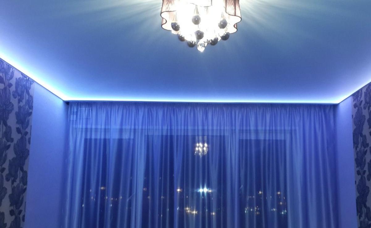 Подсветка карниза светодиодной лентой