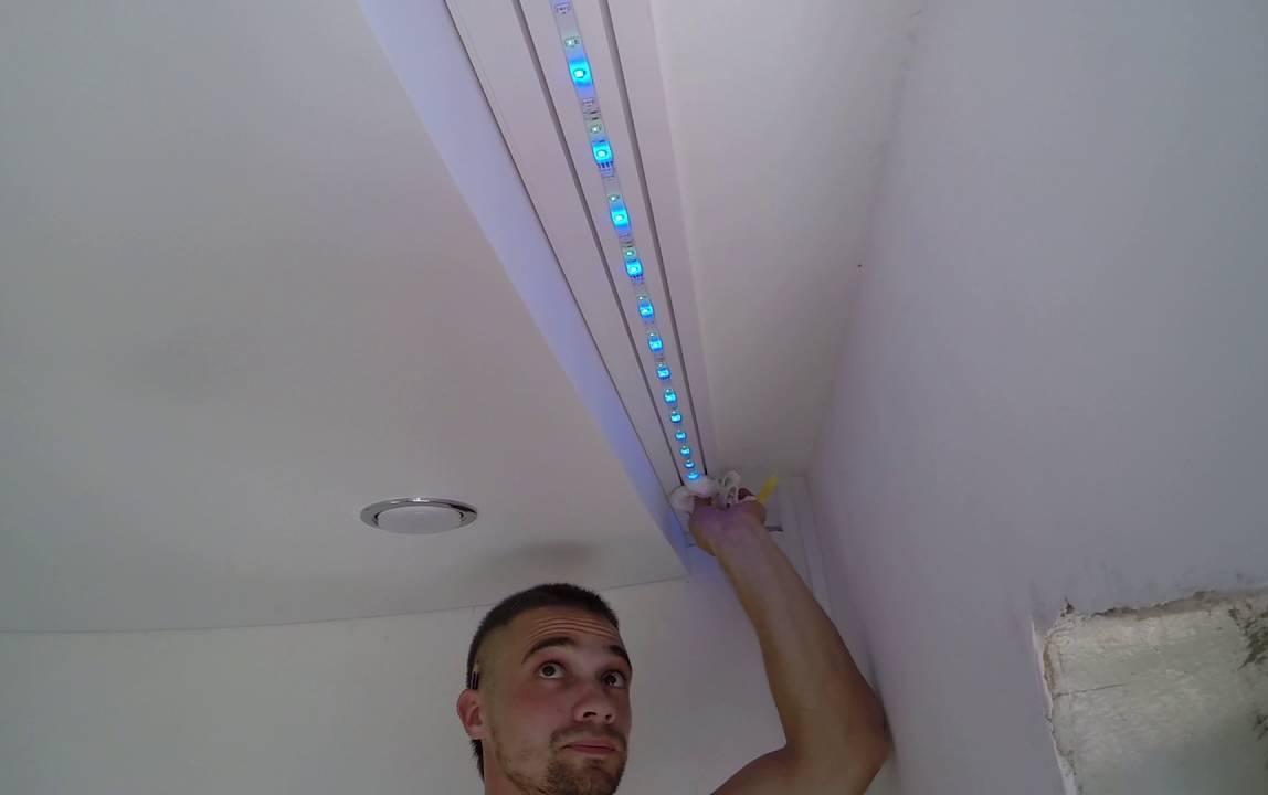 Подсветка гардины светодиодной лентой