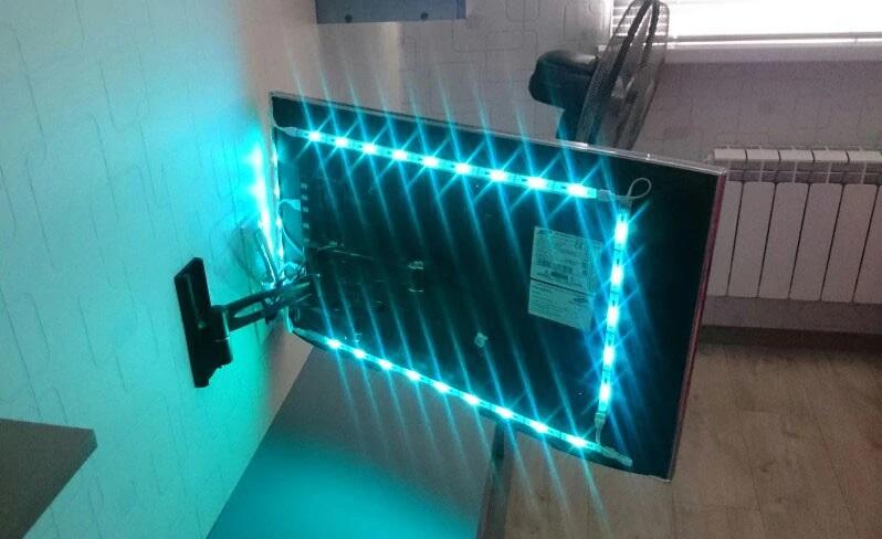 подсветка телевизора с помощью светодиодной ленты своими руками