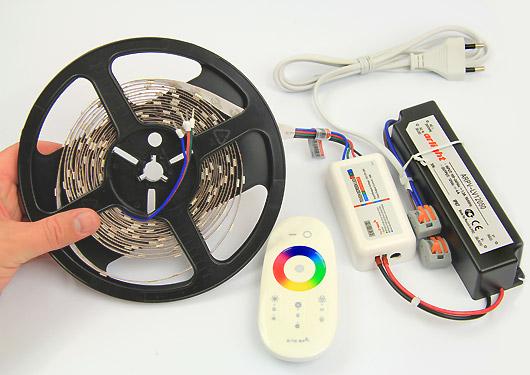 как подключить цветную светодиодную ленту с пультом